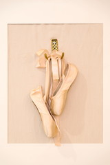 Ballet shoes hanging