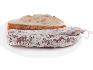 french sausage and bread