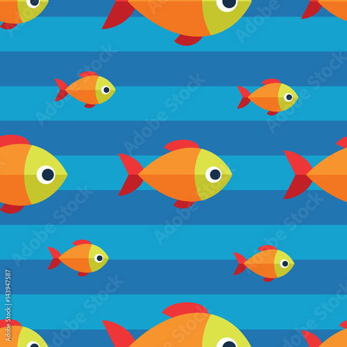 Vector seamless fish pattern ocean or aquarium for Seamless fish tank