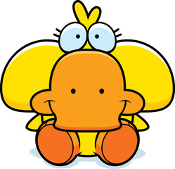 Cartoon Duckling Sitting