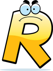 Angry Cartoon Letter R