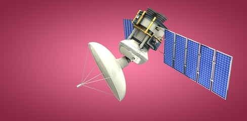 Composite image of 3d solar powered satellite