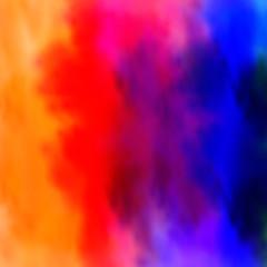 Watercolor rainbow border easy editable
