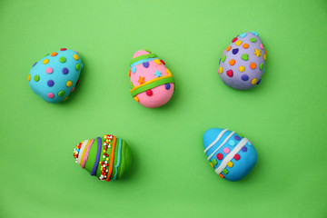 Easter eggs made of mastic