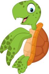 Cartoon turtle swimming