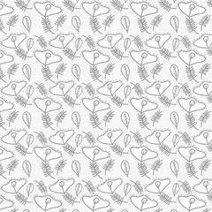 beautiful gray floral pattern background