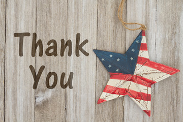 USA patriotic thank you message