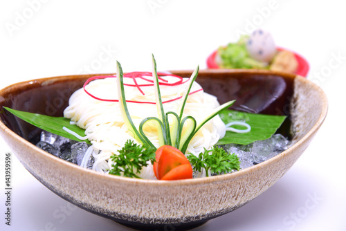"""Hiyashi Somen , Japanese chilled noodles served with ..."