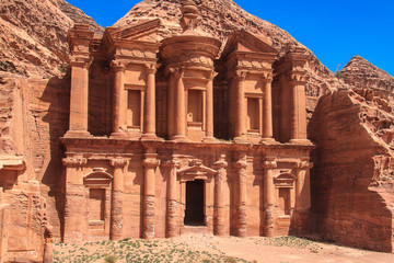 Ancient City of Petra. The monastery. Jordan