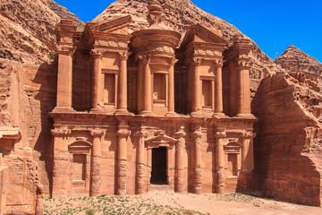 Ancient City of Petra. The monastery. Jordan