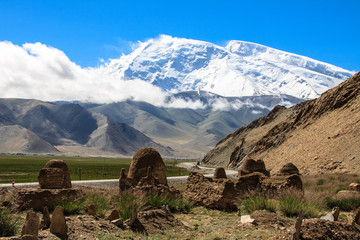 Mountain Muztagh-Ata in China