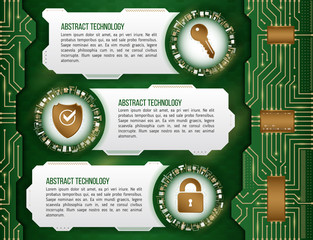 Abstract futuristic circuit background. High computer technology concept with key, shield and padlock. Internet security data. Computer system privacy.