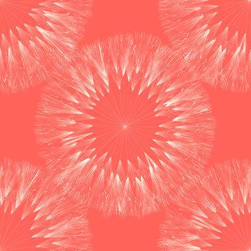Dandelion seamless pattern