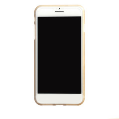 Modern mobile smart phone with black screen for mockup, isolated on white background , Clipping Path