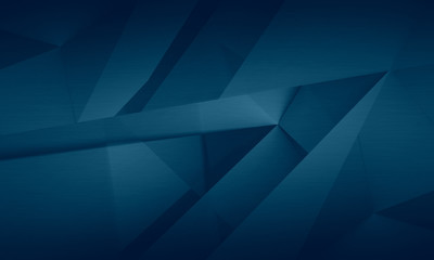 Abstract dark blue background, polygonal brushed texture