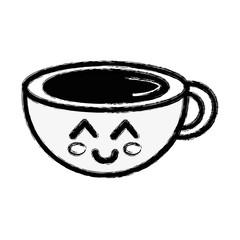 contour kawaii cute happy coffee cup