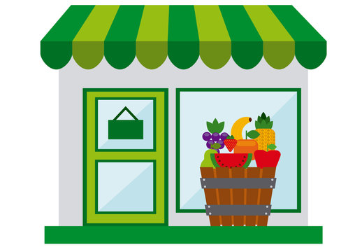 Fruit Stand and Grocery Store Logo