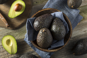 Raw Organic Ripe Avocados