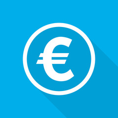 Euro icon. Vector illustration.