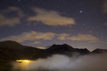 Night landscape with stars