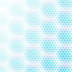 Abstract geometric background with many multicolored triangles.