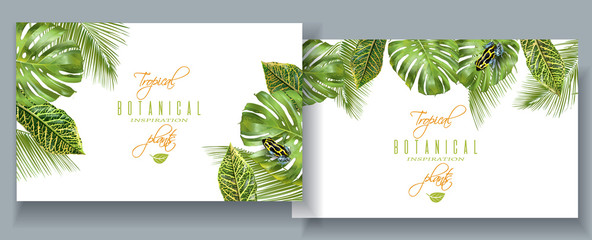 Tropical monstera banners