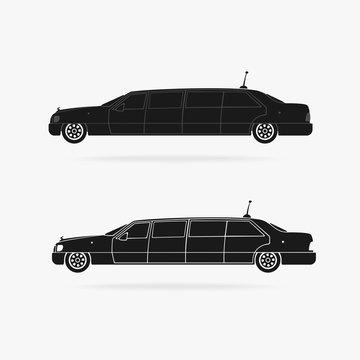 Limousine Car Icon Vector