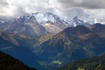 Marmolada, the highest mount of Dolomites mountains