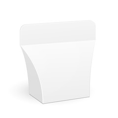 White Product Package Gift Box Illustration on White Background