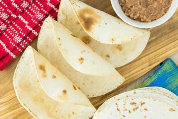 Crispy tortilla shell - ingredient for taco salad.