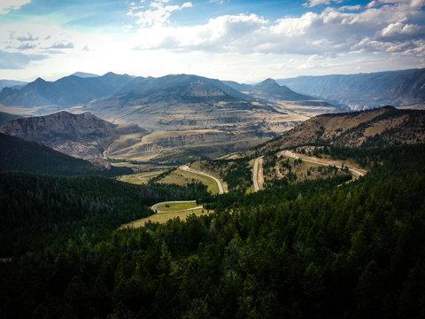 Curvy Roads Through the Mountains
