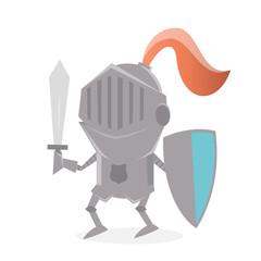 funny cartoon knight