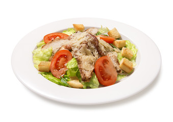 chicken caesar salad isolated