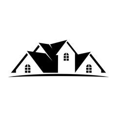 roof logo vector. template icon. home logo.