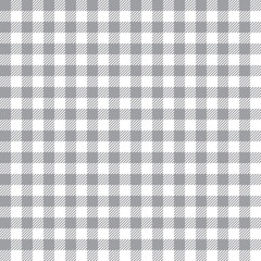 Seamless Grey Gingham Fabric Textile Pattern