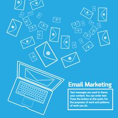 laptop send email marketing