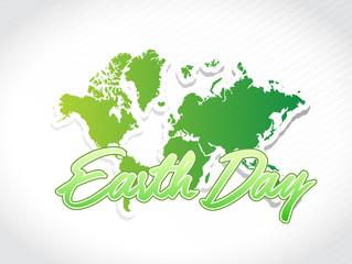 earth day world map illustration