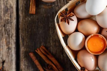Eggs, cinnamon, buckwheat
