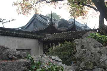 Traditional Chinese Architecture in Gardens in China Asia
