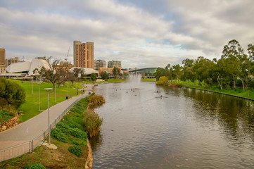 Adelaide's River Torrens on a brisk morning is a place where rowers can enjoy their sport