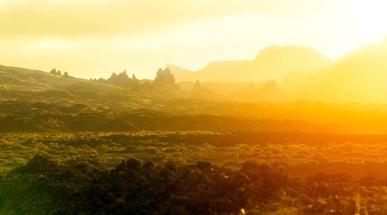 Papiers peints Jaune El Teide Landsacape by Sunrise