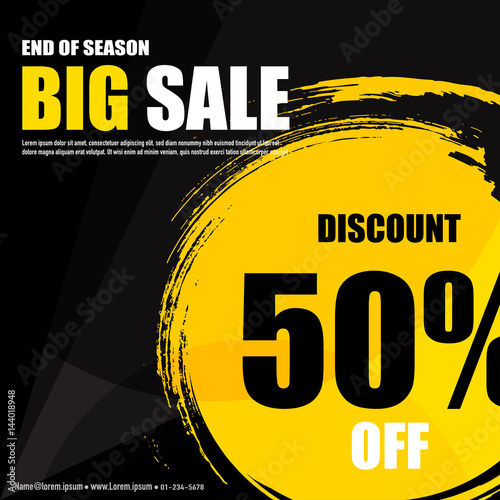 Sale banner design template with creative ideas