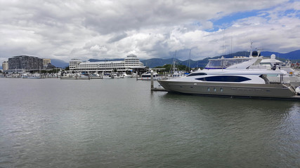 Cairns pier over looking boat habour