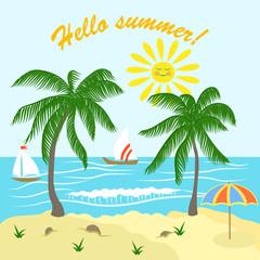Postcard summer vacation