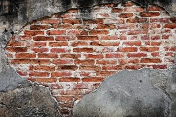 Old concrete  old brick wintage wall interior design