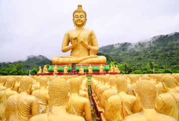 Golden Buddha statue in Thai