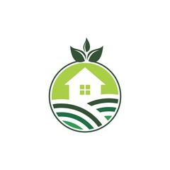 icon logo for green house living
