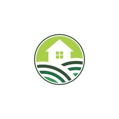 icon logo for green house