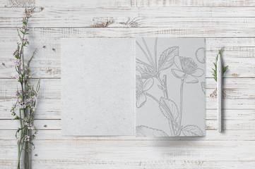Gratulation - Einladung - Grußkarte mit floralem Motiv