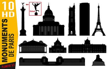 Monuments de Paris - Paris - Célèbre - Tourisme - Tour Eiffel - Panthéon - Bastille - Parisien